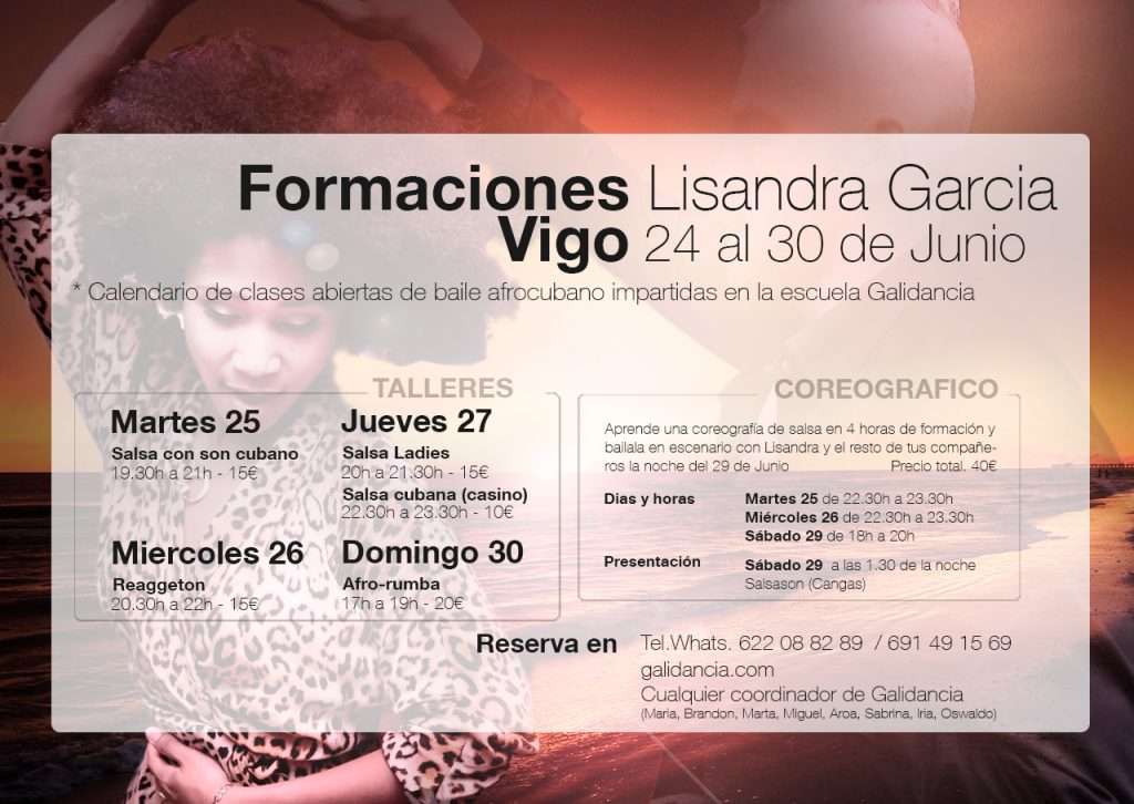 Horarios Lisandra Garcia en Galidancia