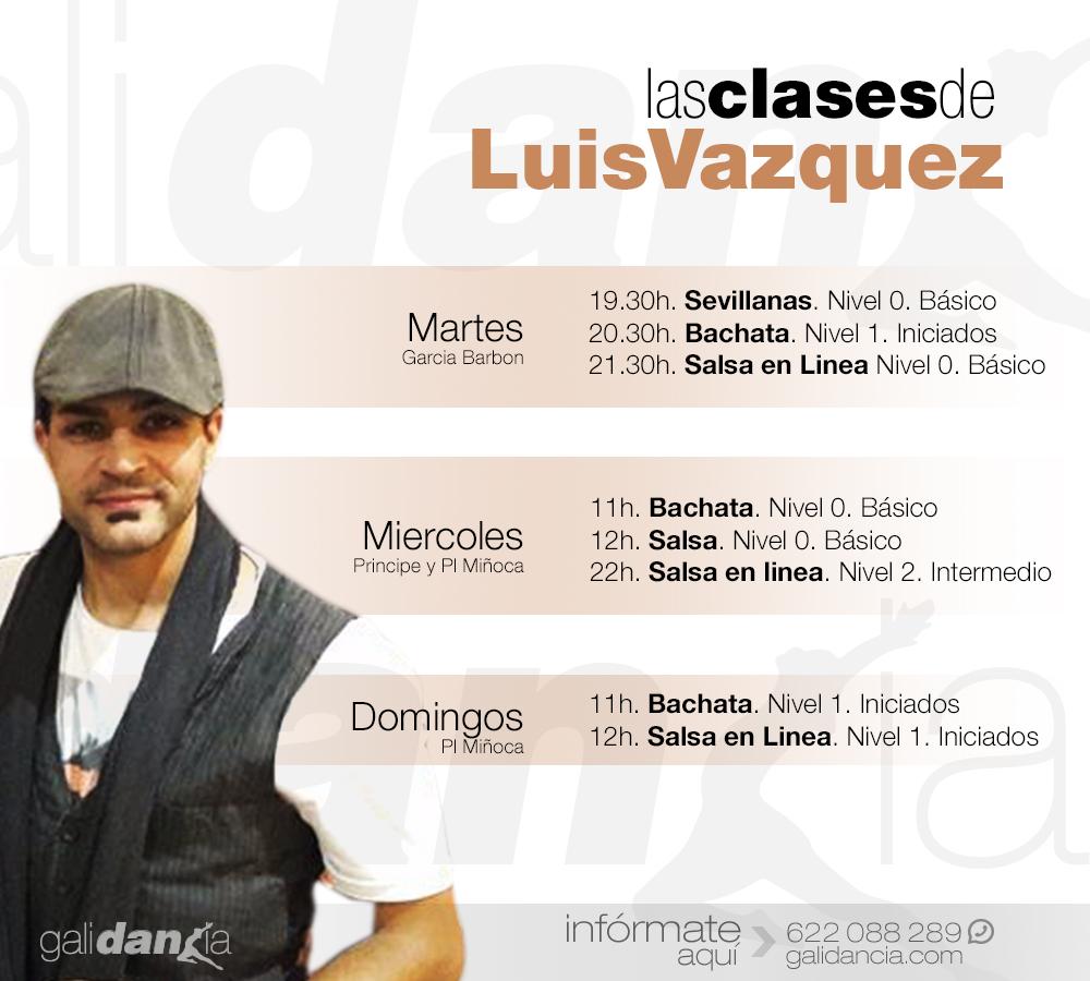 Clases de Luis Vazquez en Galidancia