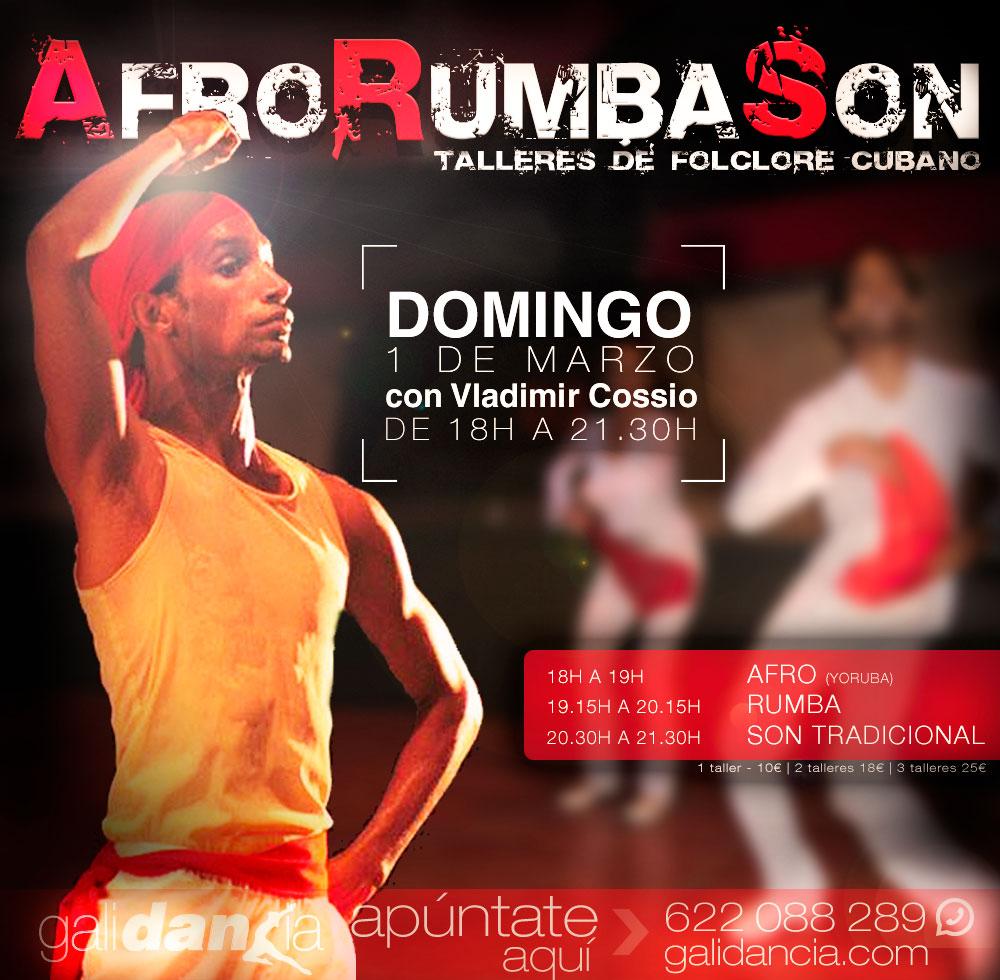 Taller de afro, rumba y son con Vladimir Cossio en Galidancia